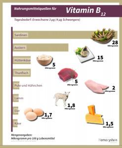 Infografik-VitaminB12 - Homocystein Netzwerk